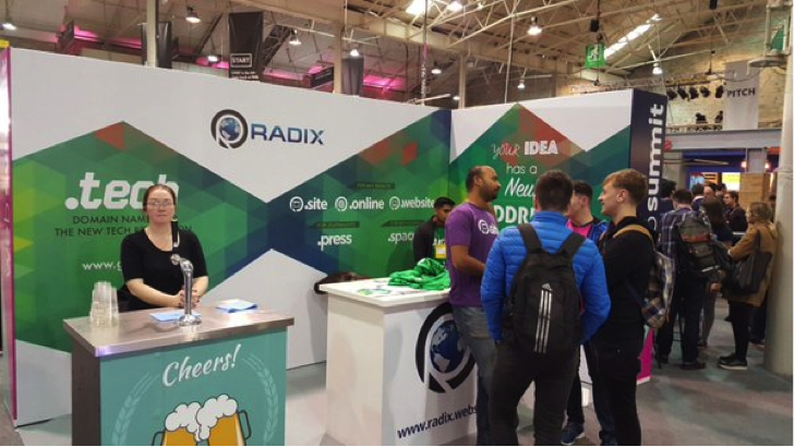 That was our booth at Websummit with the famous Beer Zone!